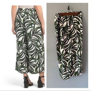 Eliane Rose Tropical Leaf wide leg crop pants 4
